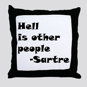 Hell is Other People Throw Pillow