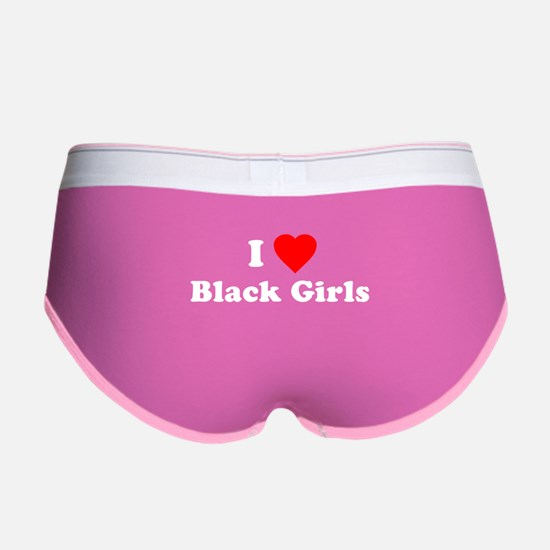 I Love [Heart] Black Girls Women's Boy Brief
