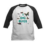 I Dig Bugs Kids Baseball Jersey