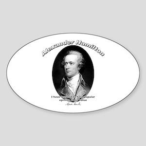 Alexander Hamilton 03 Oval Sticker