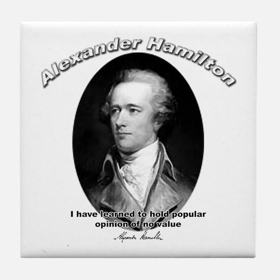 Alexander Hamilton 03 Tile Coaster