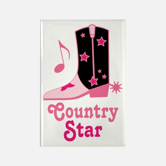 Country Star Rectangle Magnet