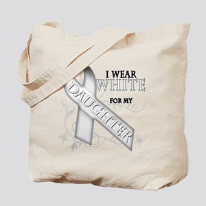 I Wear White for my Daughter Tote Bag