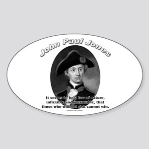 John Paul Jones 02 Oval Sticker