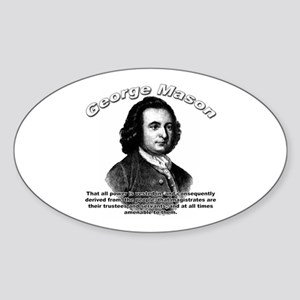 George Mason 05 Oval Sticker
