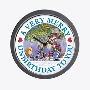 A VERY MERRY UNBIRTHDAY Wall Clock
