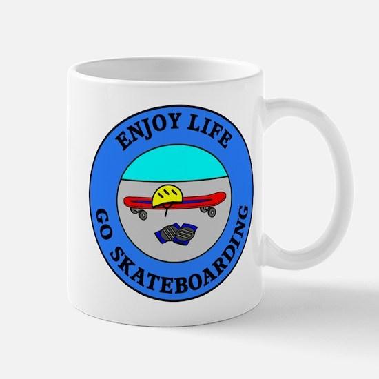 Enjoy Life Go Skateboarding Mug