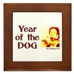 Framed Year of the Dog Tile