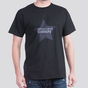 Mommy's Little Cuddles Black T-Shirt