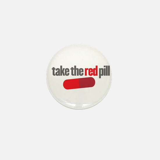 Take the red pill Mini Button
