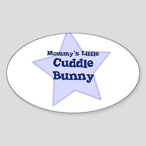 Mommy's Little Cuddle Bunny Oval Sticker