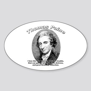 Thomas Paine 05 Oval Sticker