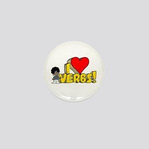 I Heart Verbs - Schoolhouse Rock! Mini Button