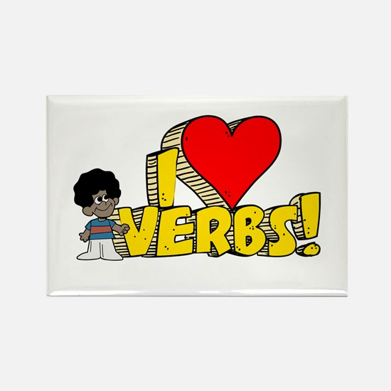 I Heart Verbs - Schoolhouse Rock! Rectangle Magnet