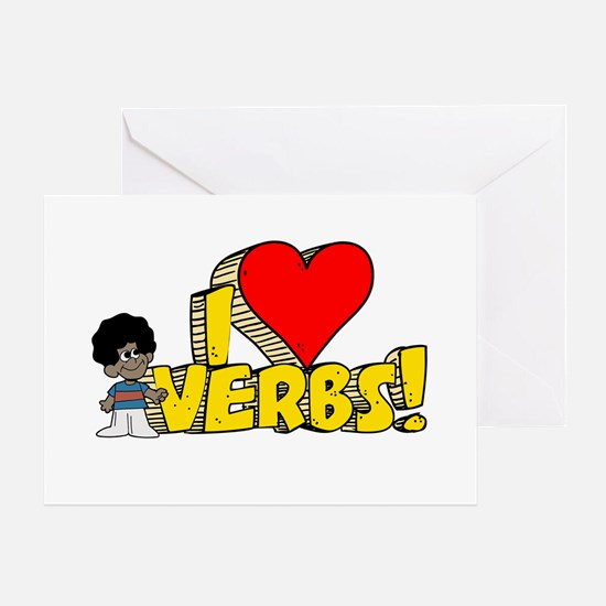 I Heart Verbs - Schoolhouse Rock! Greeting Card