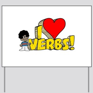 I Heart Verbs - Schoolhouse Rock! Yard Sign
