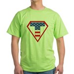 Super Tea Party Patriot Green T-Shirt