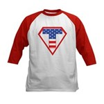 Super Tea Party Patriot Kids Baseball Jersey