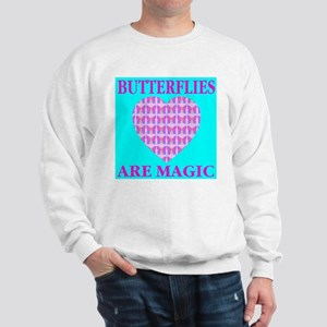 Butterflies Are Magic Heart Sweatshirt