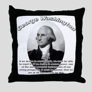 George Washington 01 Throw Pillow
