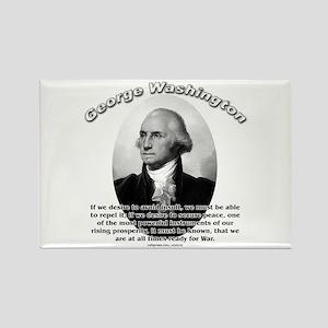 George Washington 01 Rectangle Magnet