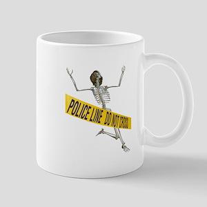 Crime Scene Skeleton Mug