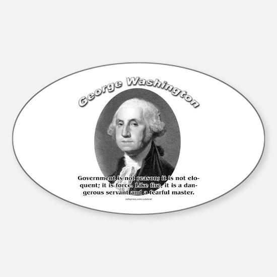 George Washington 02 Oval Decal