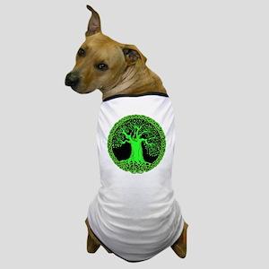 Green Wisdom Tree Dog T-Shirt