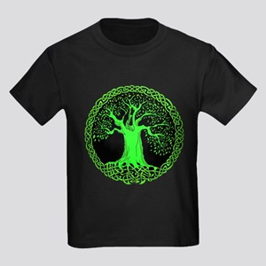 Green Wisdom Tree Kids Dark T-Shirt