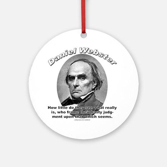 Daniel Webster 02 Ornament (Round)