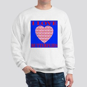 I Love Butterflies Heart Ocea Sweatshirt