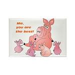 Pig Mum Rectangle Magnet