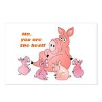 Pig Mum Postcards (Package of 8)