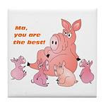 Pig Mum Tile Coaster