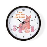 Pig Mum Wall Clock
