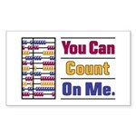 Count on Me Sticker (Rectangle)