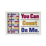 Count on Me Rectangle Magnet