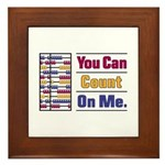 Count on Me Framed Tile