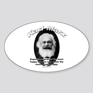 Karl Marx 01 Oval Sticker