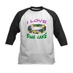 I LOVE KING CAKE Kids Baseball Jersey
