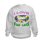 I LOVE KING CAKE Kids Sweatshirt