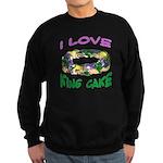 I LOVE KING CAKE Sweatshirt (dark)