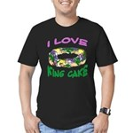 I LOVE KING CAKE Men's Fitted T-Shirt (dark)