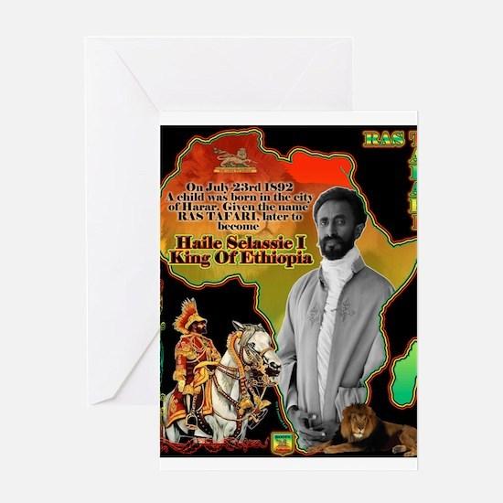 selassie africa Greeting Cards