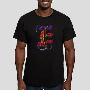 Men's Fitted T-Shirt (dark) monogram letter E