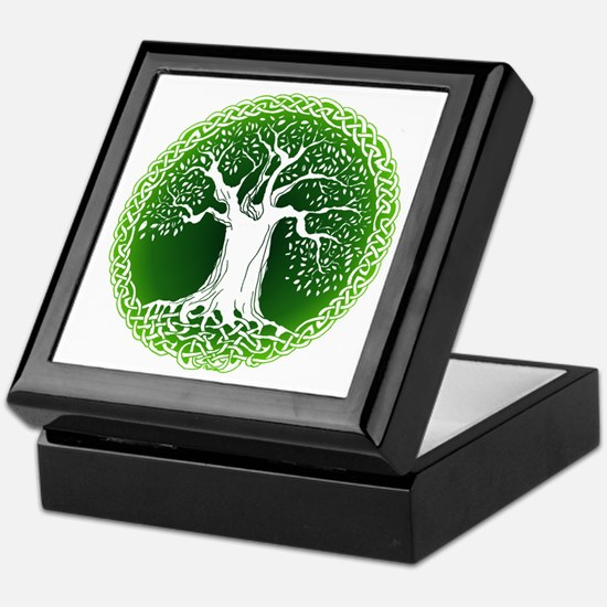 Green2 Celtic Tree Keepsake Box