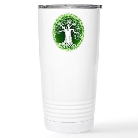Green2 Celtic Tree Stainless Steel Travel Mug