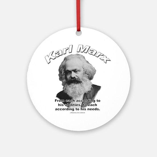 Karl Marx 02 Ornament (Round)