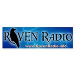 Raven Radio Bumper Sticker (10 pk)