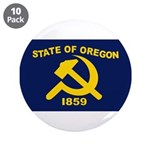 """New Oregon Flag 3.5"""" Button (10 pack)"""